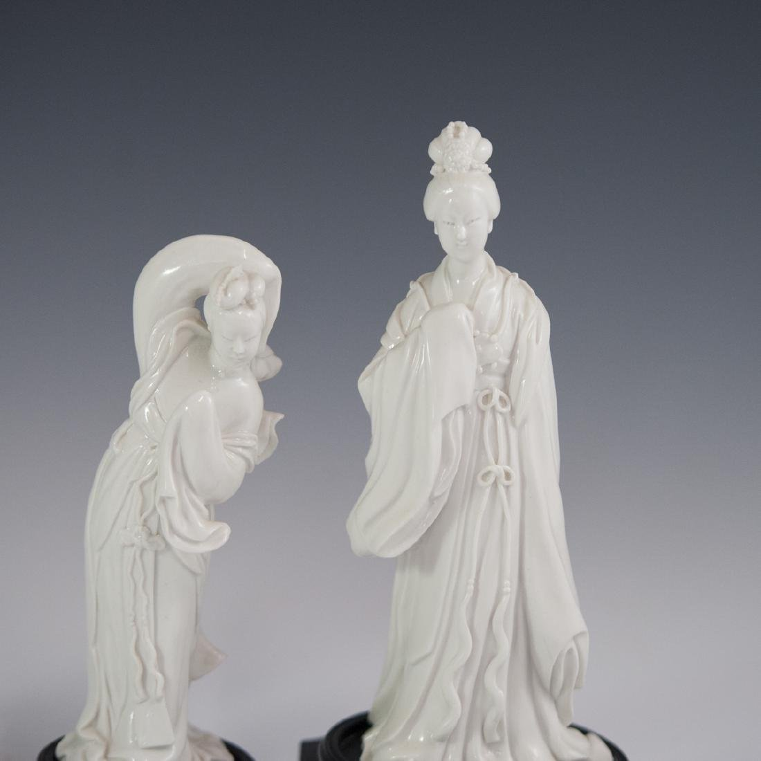 Chinese Blanc De Chine Guanyin Figurines - 4