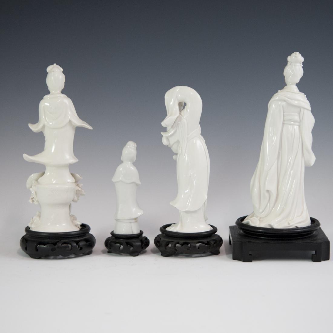 Chinese Blanc De Chine Guanyin Figurines - 5