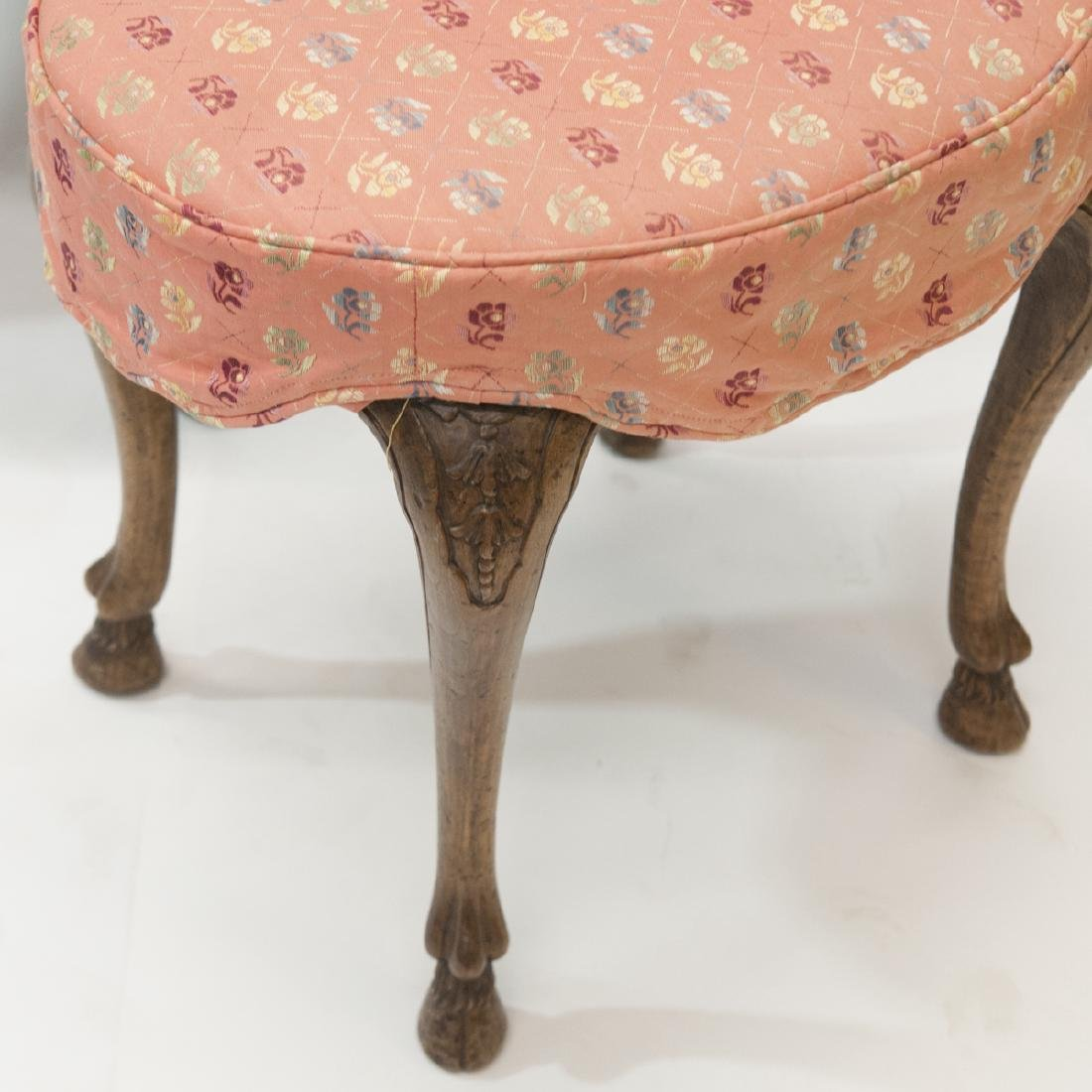 Antique Arm Chair & Ottoman - 2
