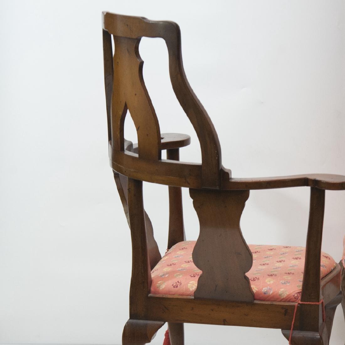 Antique Arm Chair & Ottoman - 3