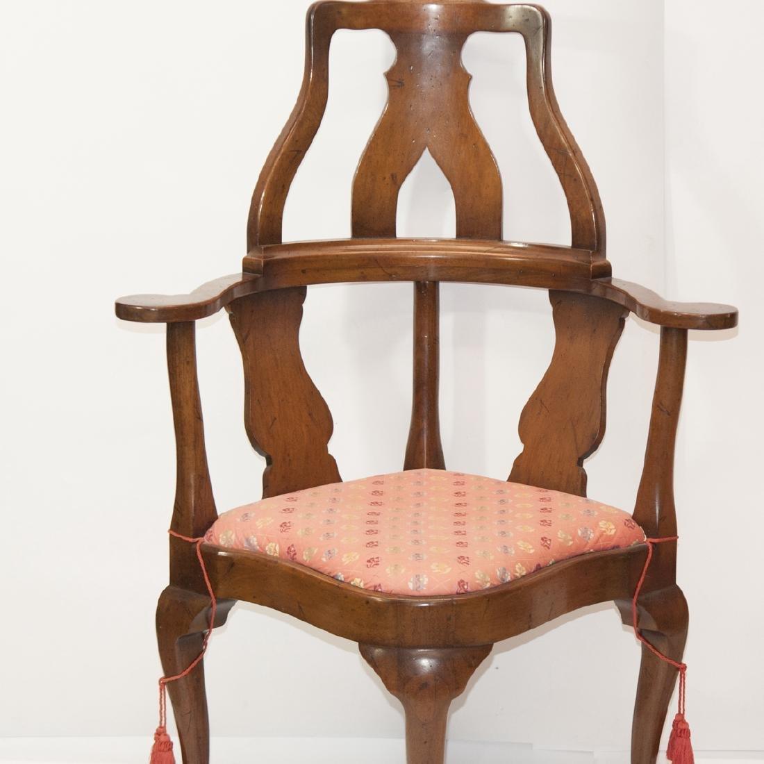 Antique Arm Chair & Ottoman - 4