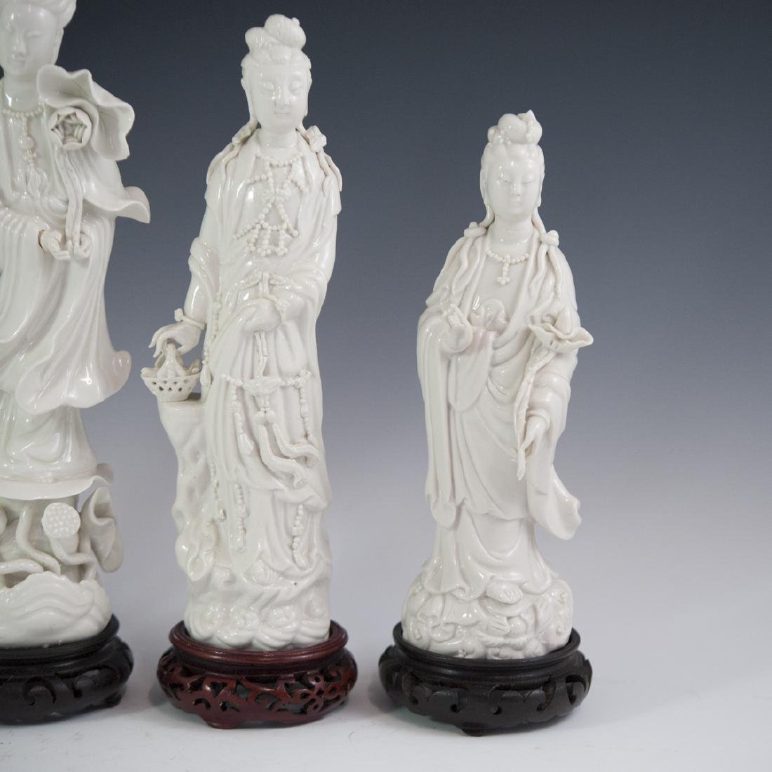 Chinese Blanc De Chine Guanyin Figurines - 2