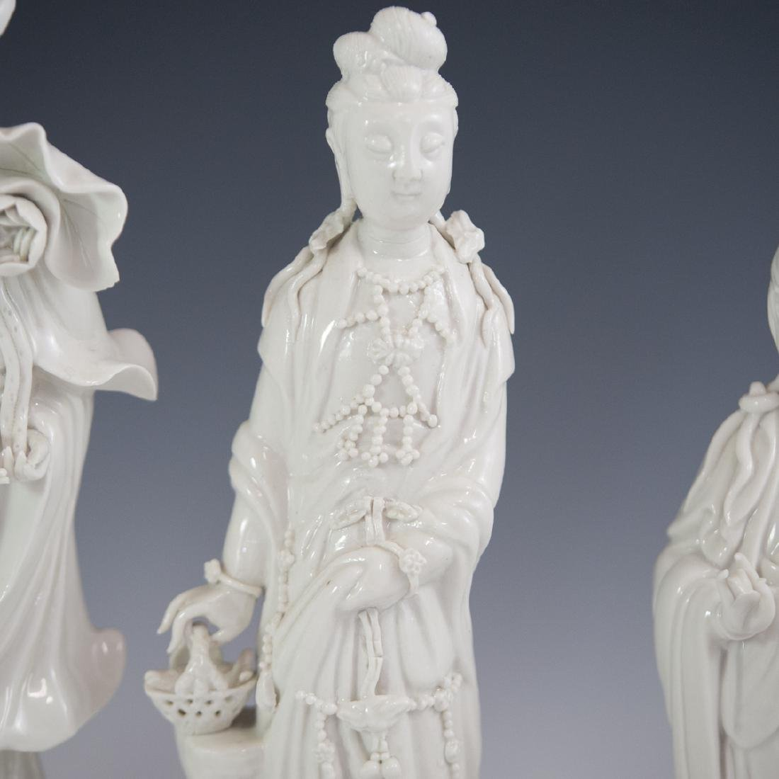 Chinese Blanc De Chine Guanyin Figurines - 4