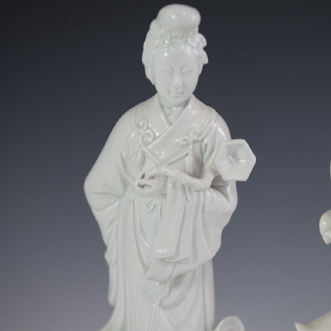 Chinese Blanc De Chine Guanyin Figurines - 5