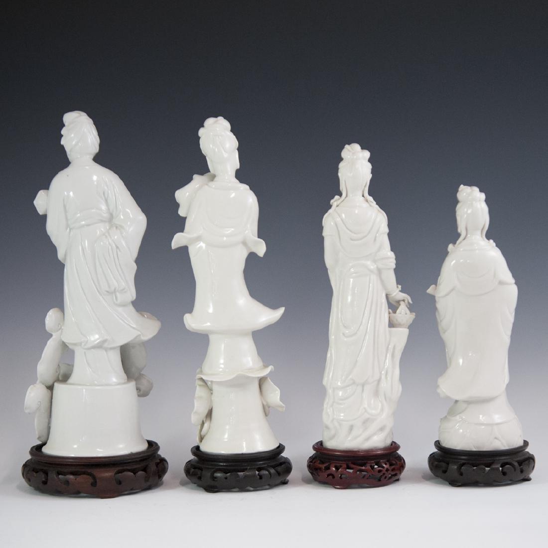 Chinese Blanc De Chine Guanyin Figurines - 6