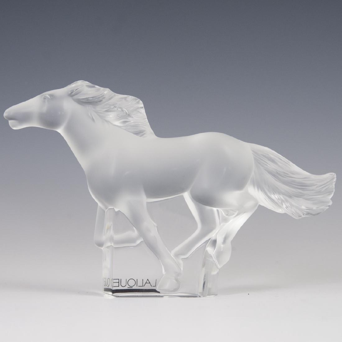 """Lalique Crystal """"Kazak"""" Horse - 2"""
