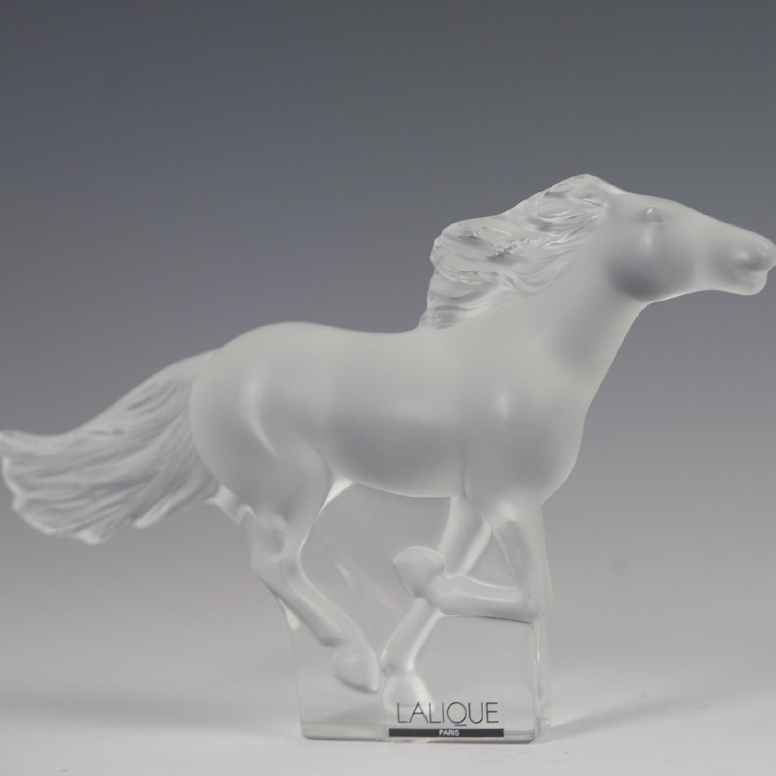 """Lalique Crystal """"Kazak"""" Horse - 4"""