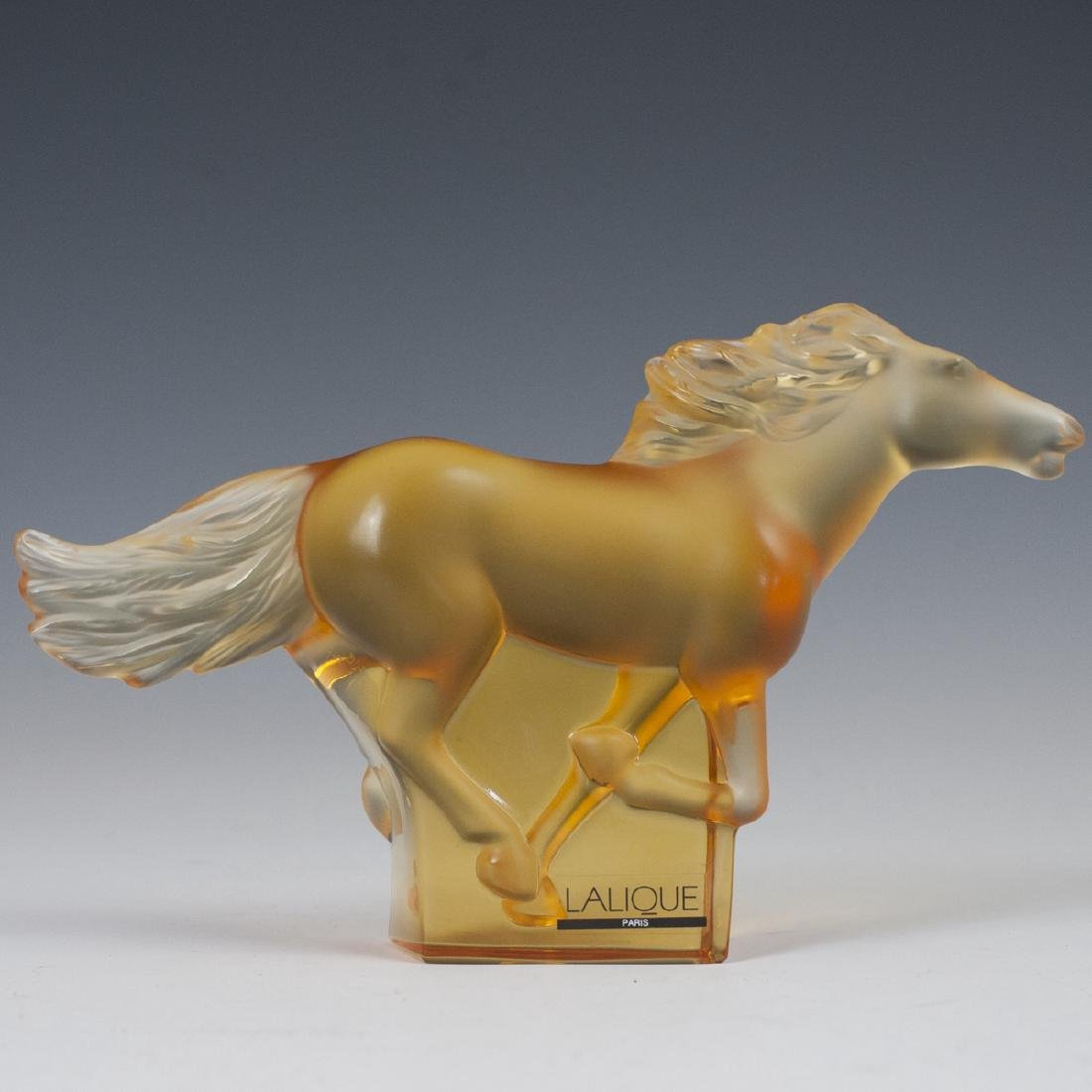 """Lalique Crystal """"Kazak"""" Horse"""