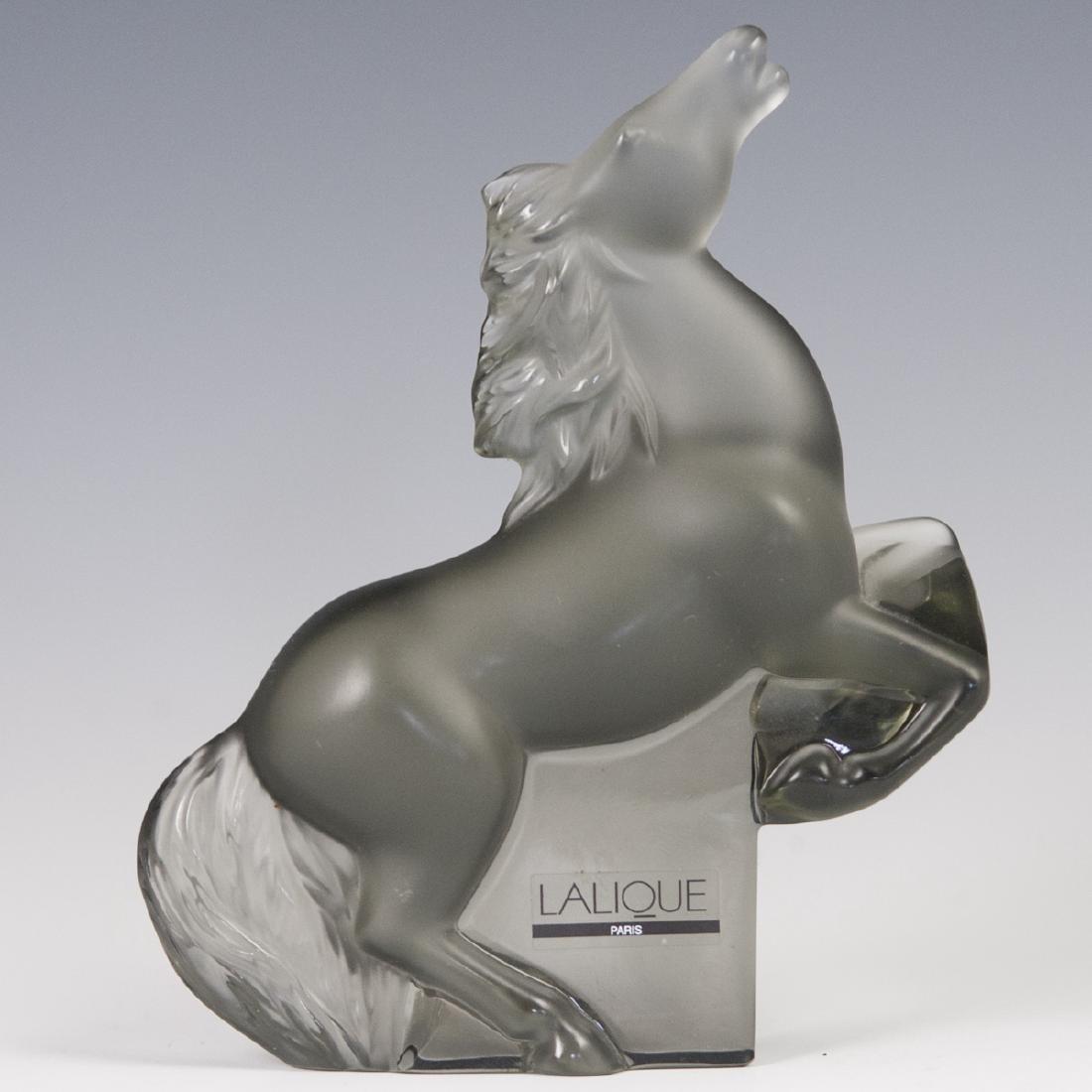 "Lalique Crystal ""Rearing Kazak"" Horse"