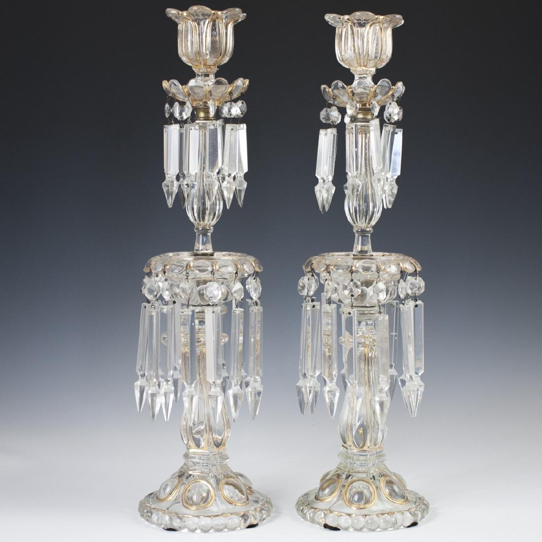 Antique Crystal Candlesticks