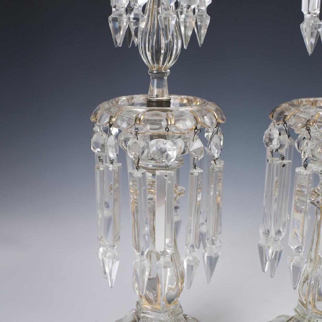 Antique Crystal Candlesticks - 3