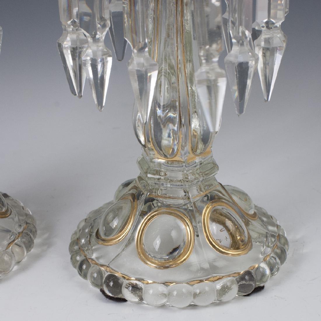 Antique Crystal Candlesticks - 4