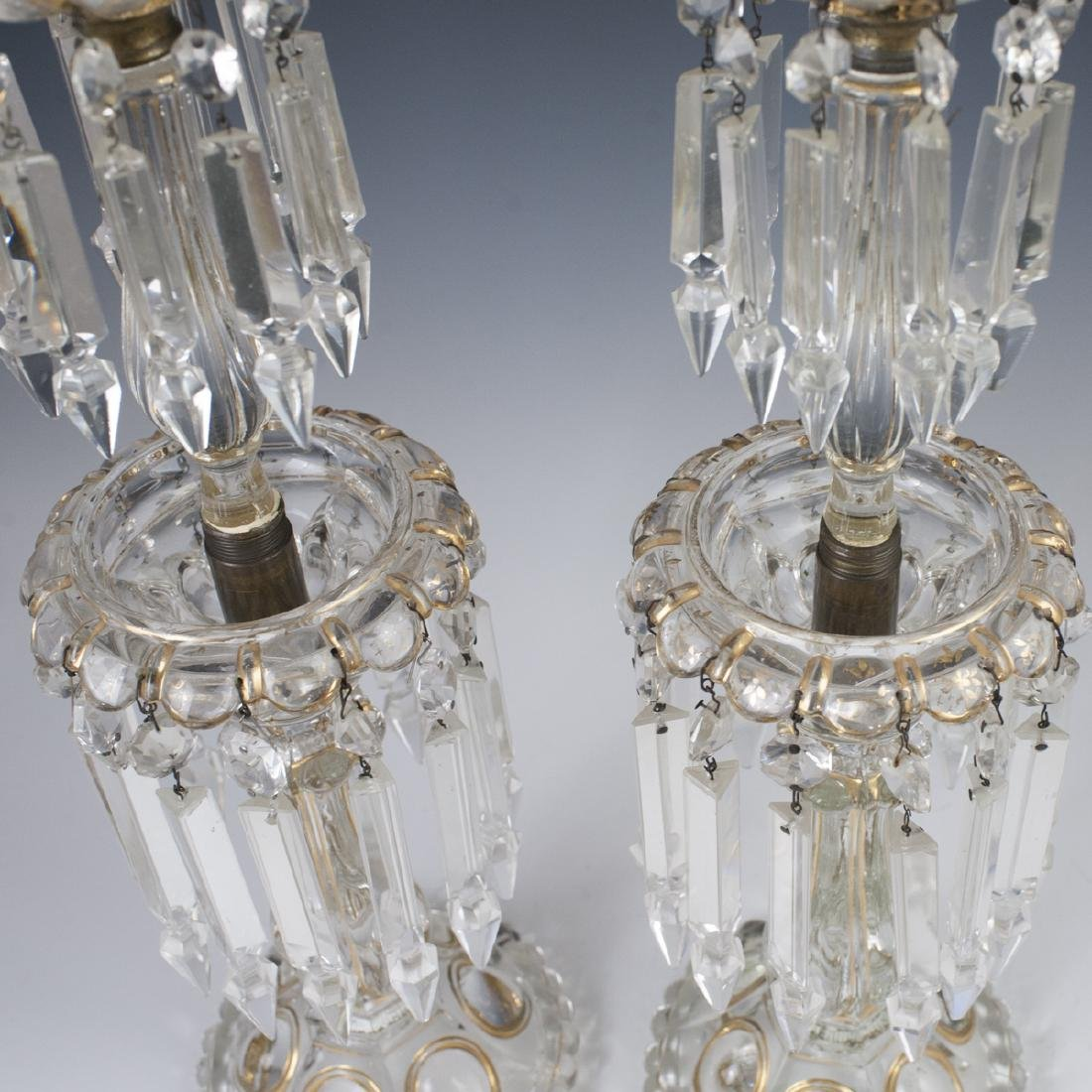 Antique Crystal Candlesticks - 5