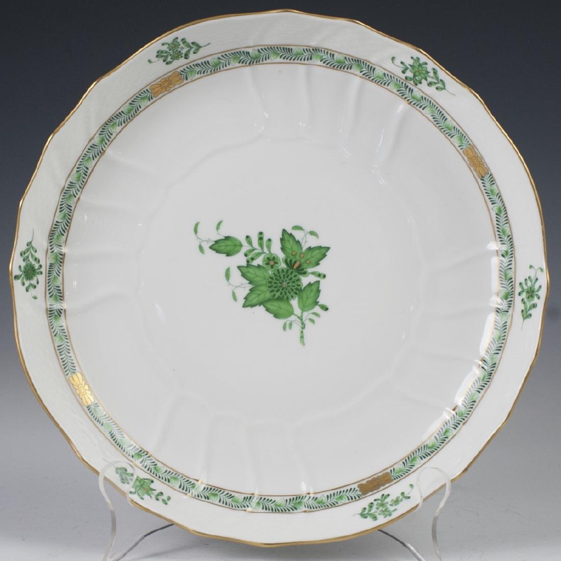 "Herend ""Apponyi Verte"" Vegetable Bowl"