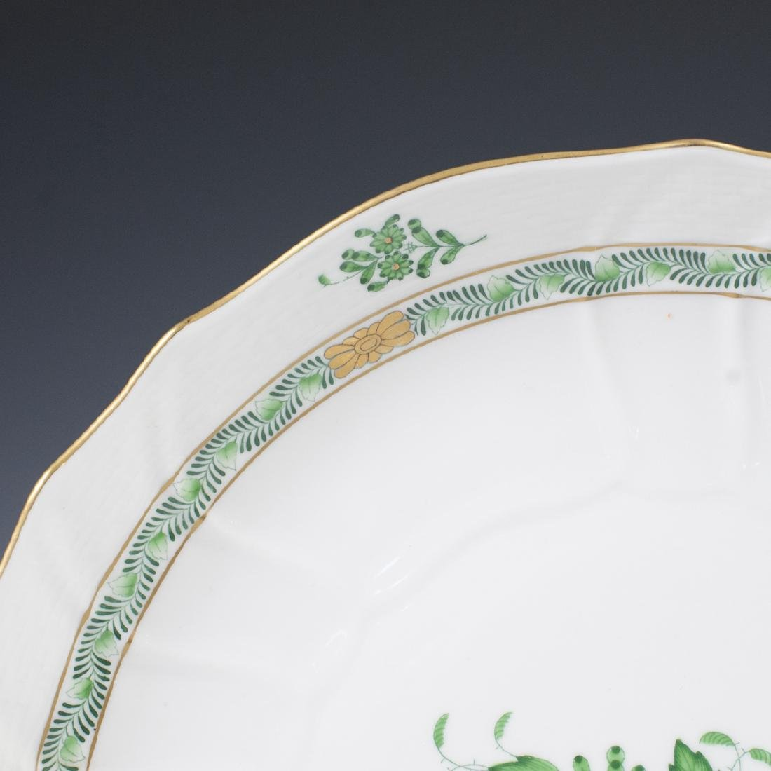 "Herend ""Apponyi Verte"" Vegetable Bowl - 2"