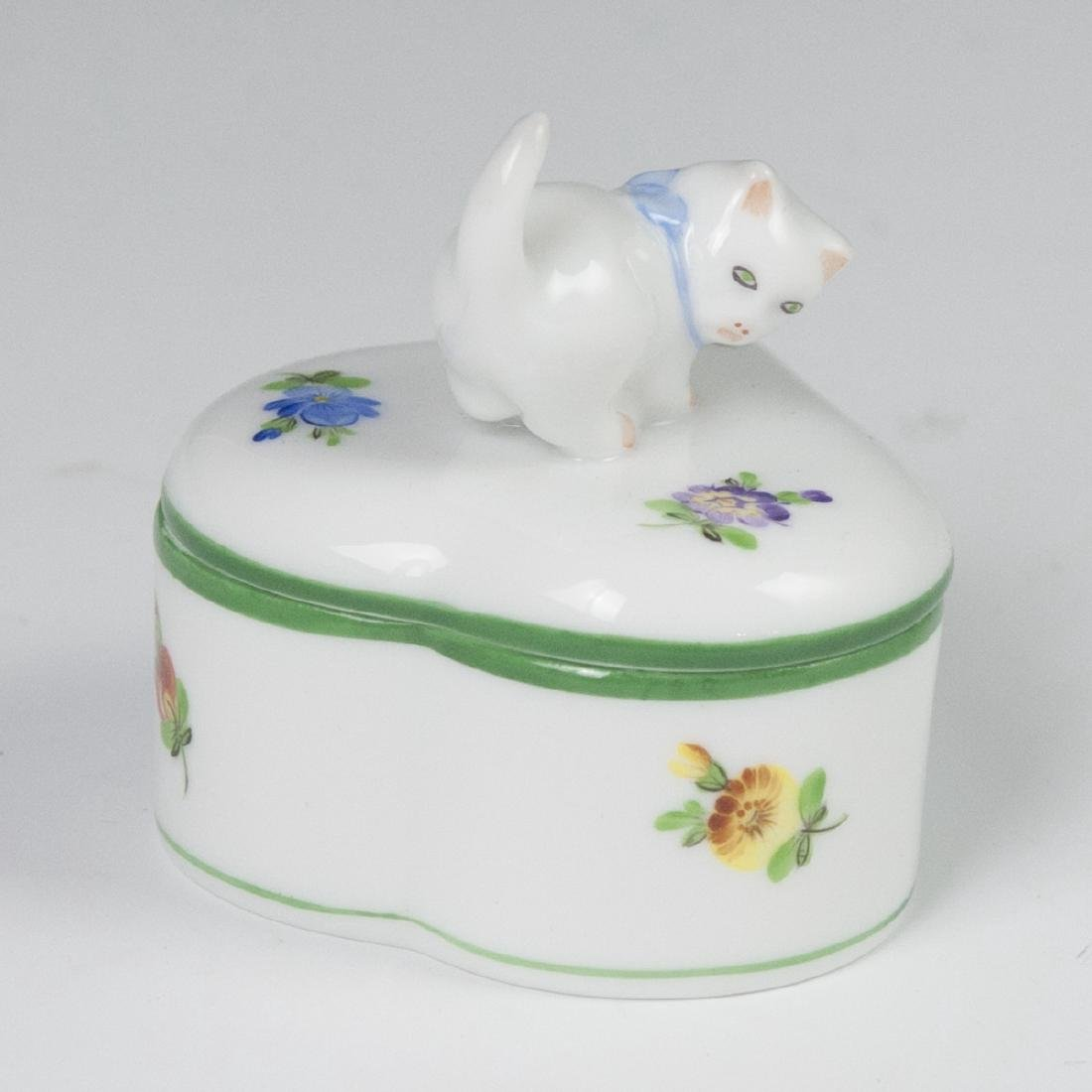 "Herend ""Lindsay""  Heart Shaped Trinket Box - 4"