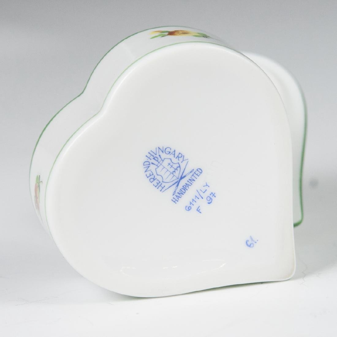 "Herend ""Lindsay""  Heart Shaped Trinket Box - 6"