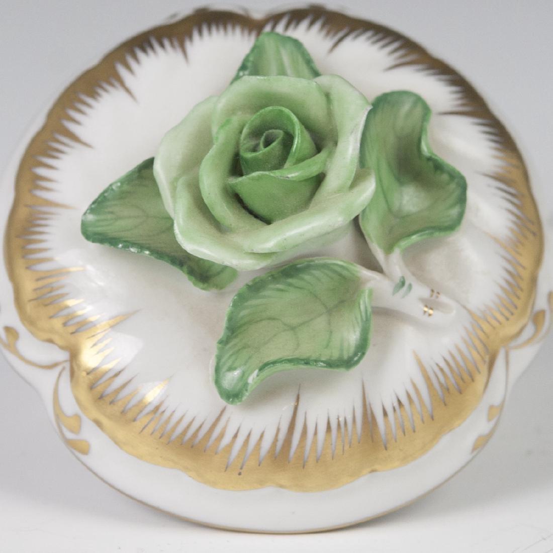 "Herend Porcelain ""Apponyi Verte"" Deckeldose - 2"