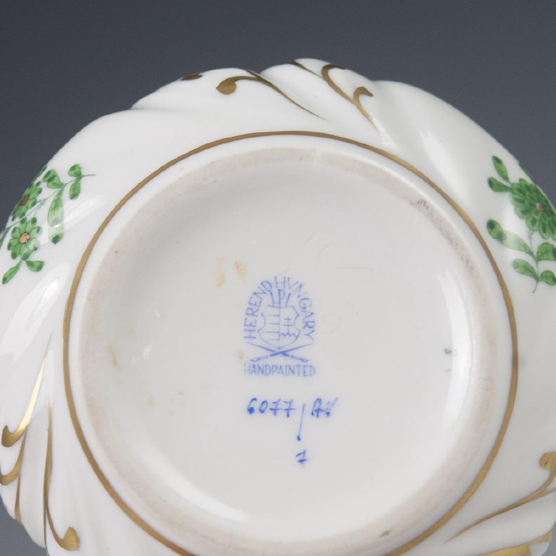 "Herend Porcelain ""Apponyi Verte"" Deckeldose - 3"