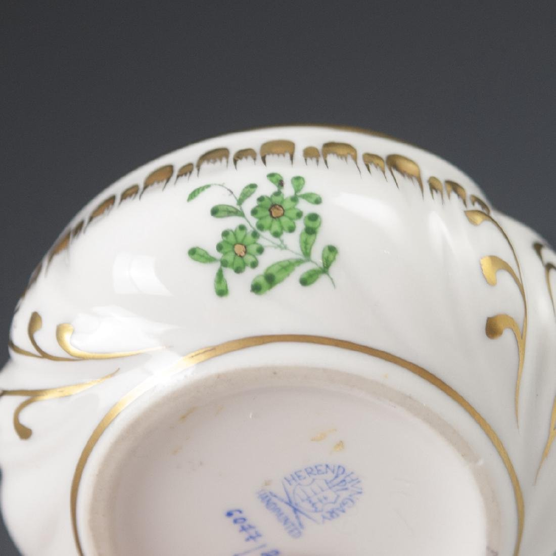 "Herend Porcelain ""Apponyi Verte"" Deckeldose - 4"