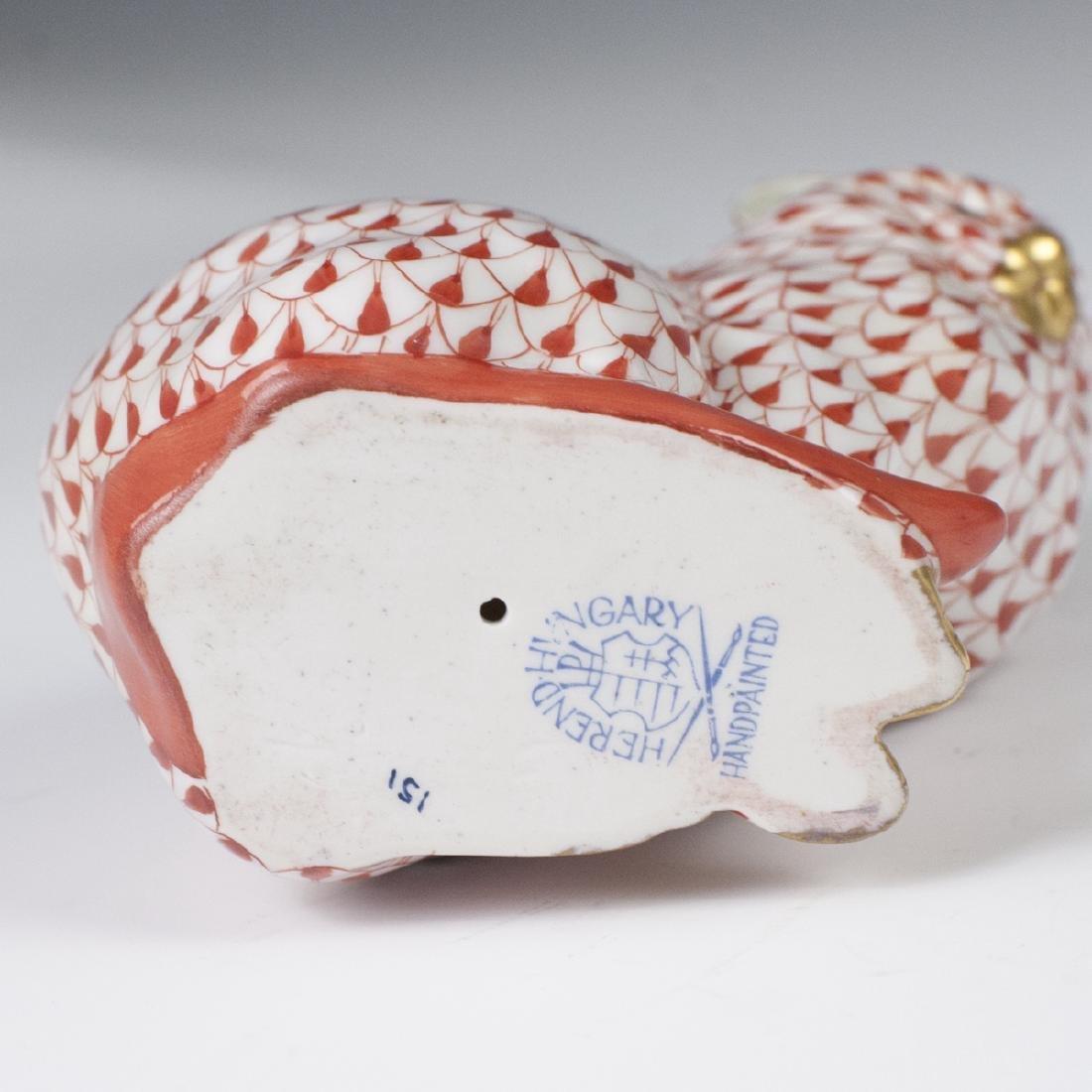 Herend Porcelain Fishnet Cat Figurine - 3