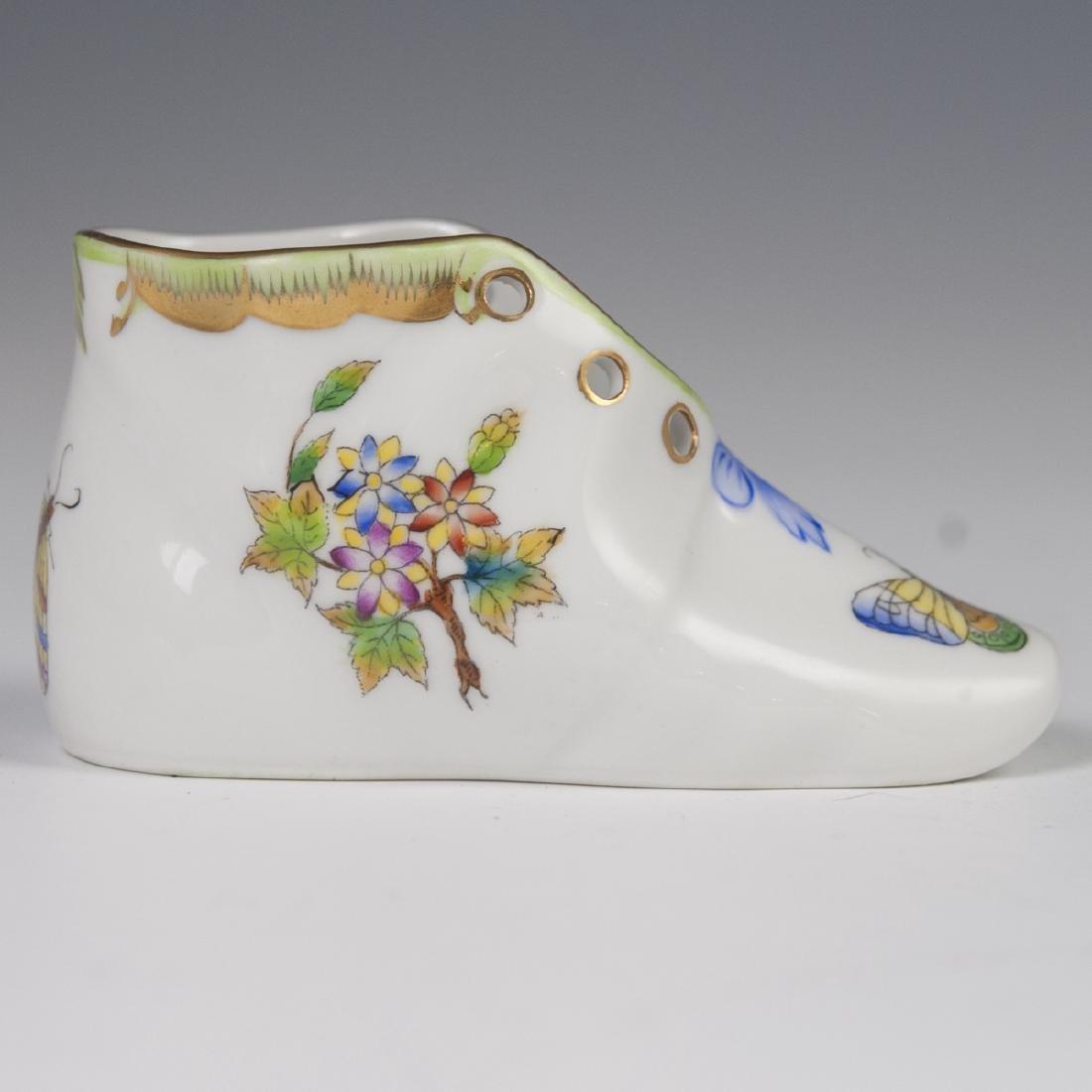 """Herend Porcelain """"Queen Victoria"""" Baby Shoe"""