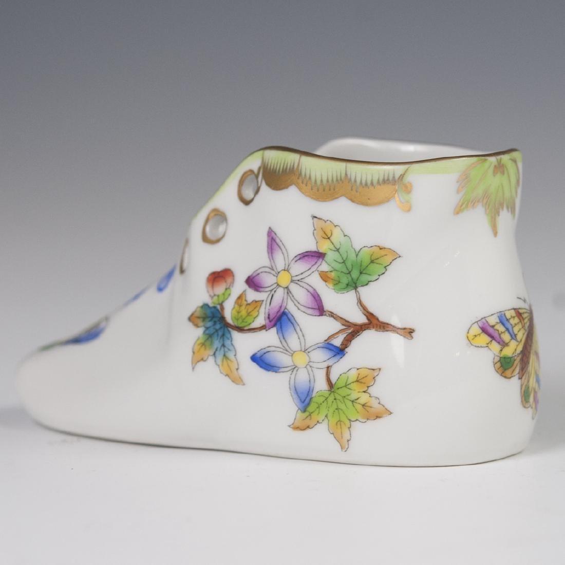 """Herend Porcelain """"Queen Victoria"""" Baby Shoe - 2"""