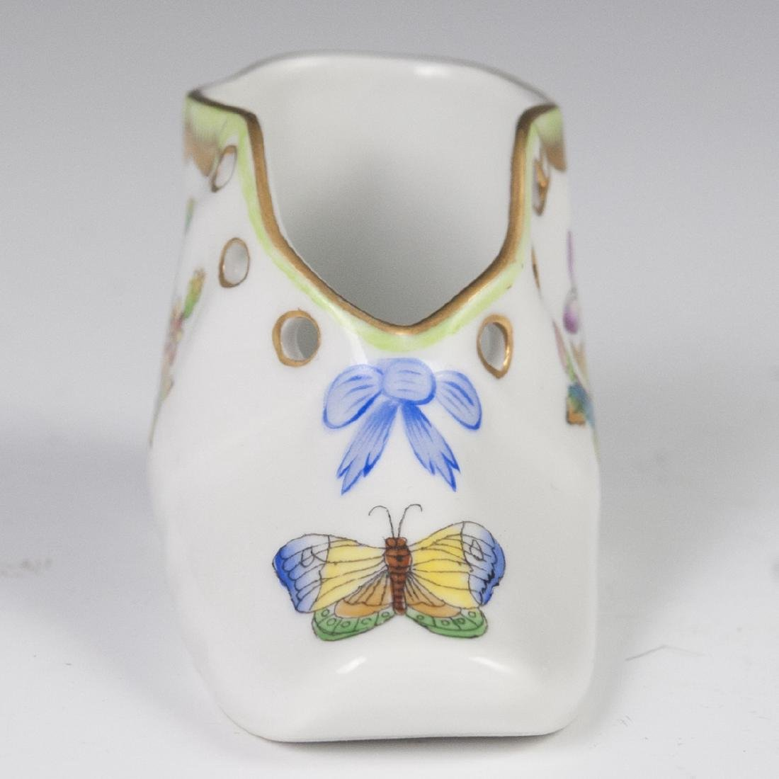 """Herend Porcelain """"Queen Victoria"""" Baby Shoe - 4"""