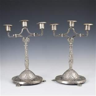 Vintage Silver Plated Candelabras