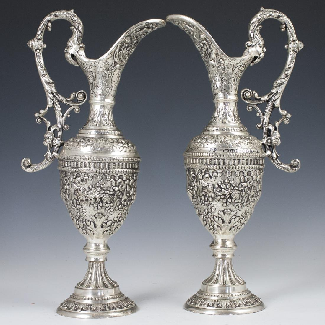 Vintage Baroque Silver Plated Ewers