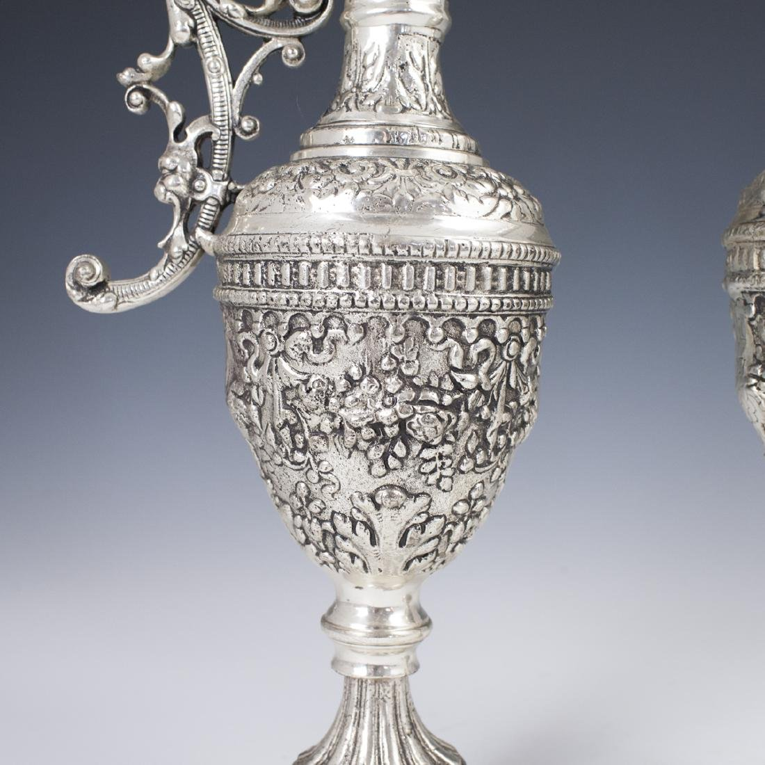 Vintage Baroque Silver Plated Ewers - 2