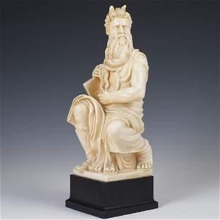 Gino Ruggeri Resin Sculpture of Moses