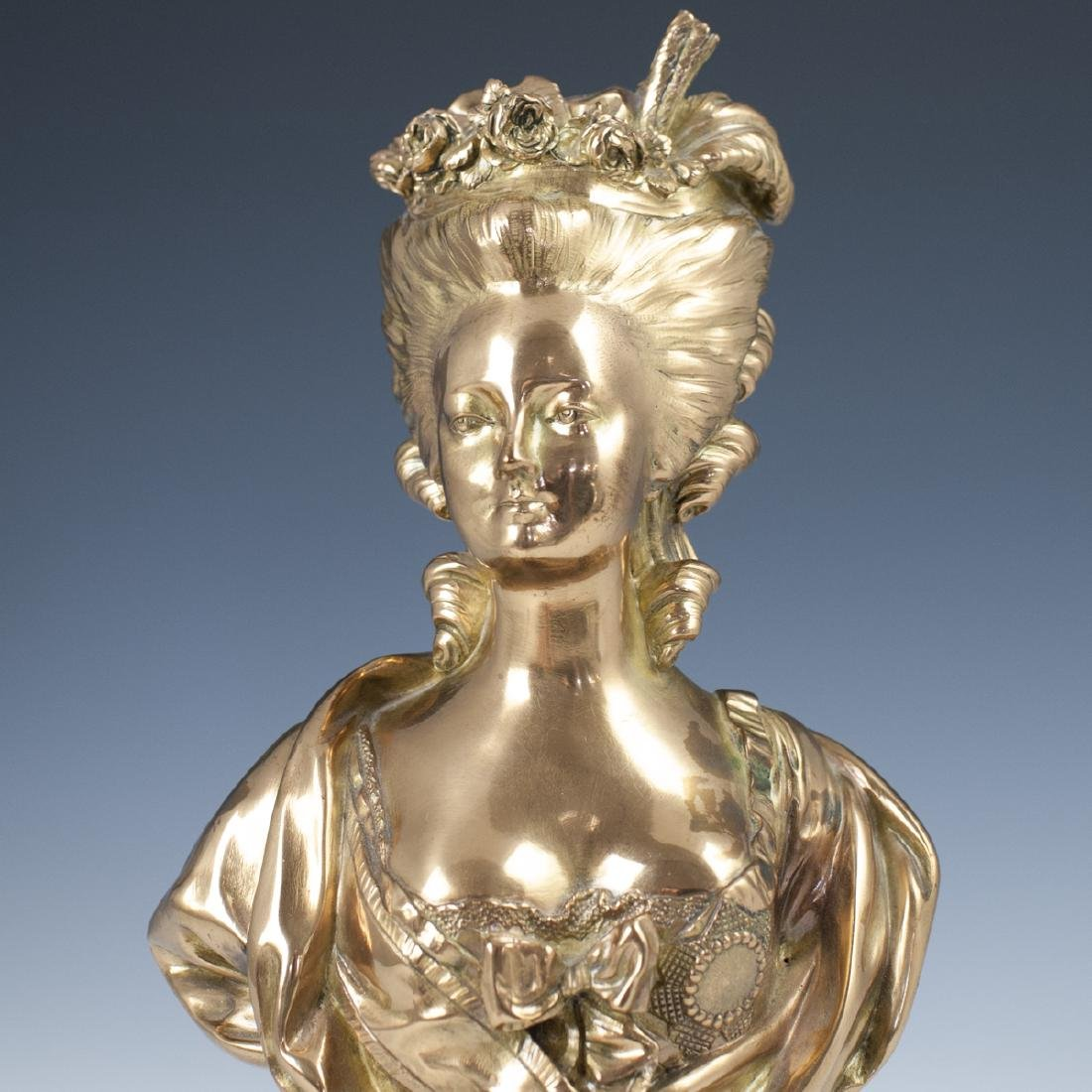 Antique Victorian Dore Bronze Bust - 2