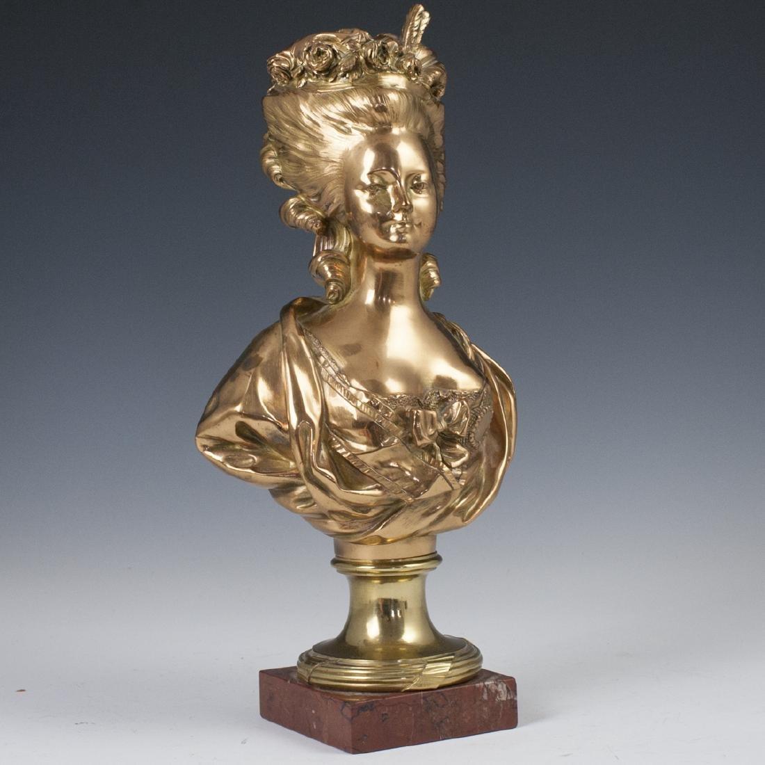 Antique Victorian Dore Bronze Bust - 5