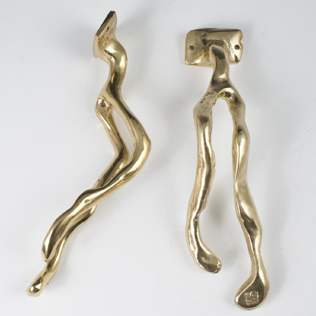 David Marshall Brass Towel Hangers - 3