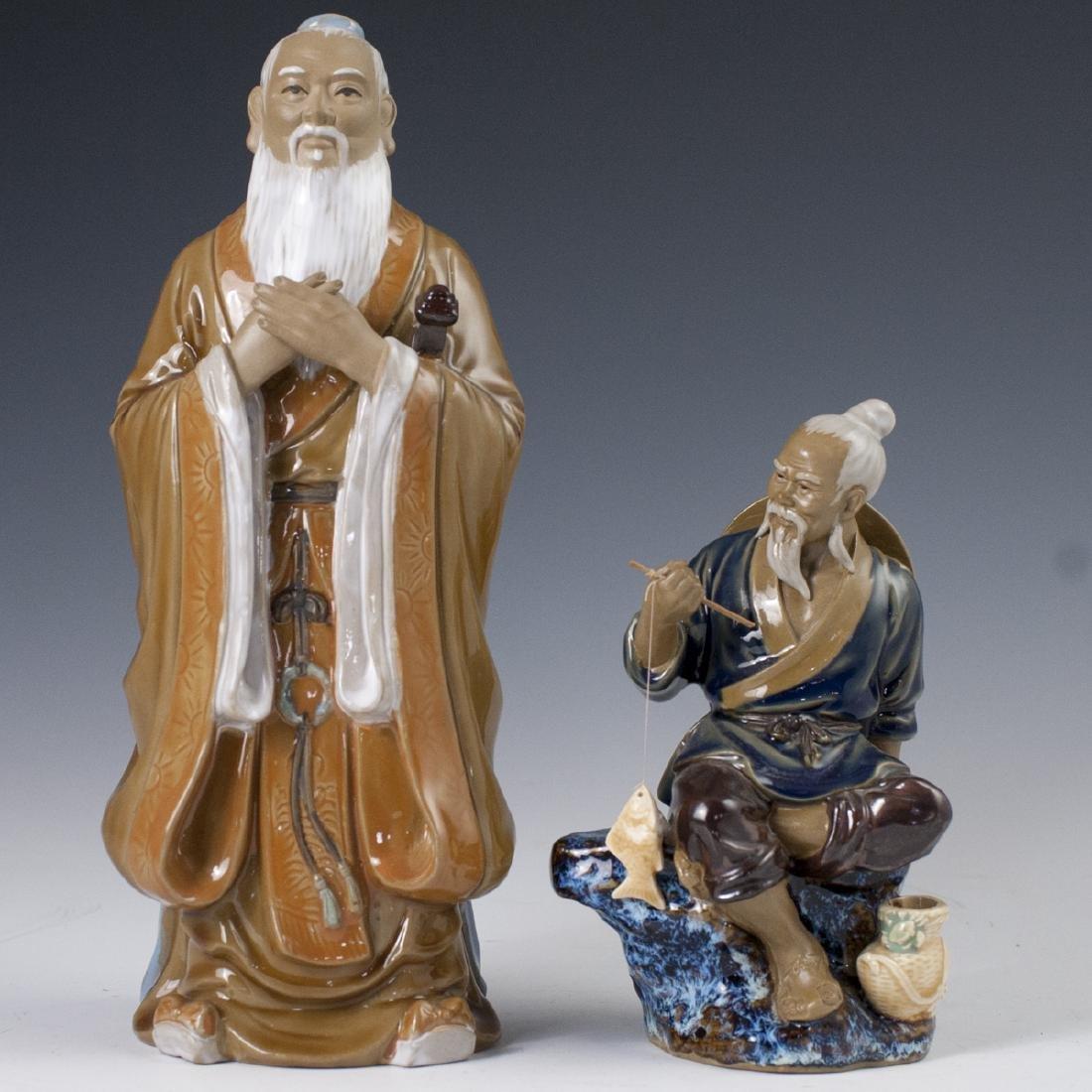 Chinese Glazed Ceramic Mudmen Figurines