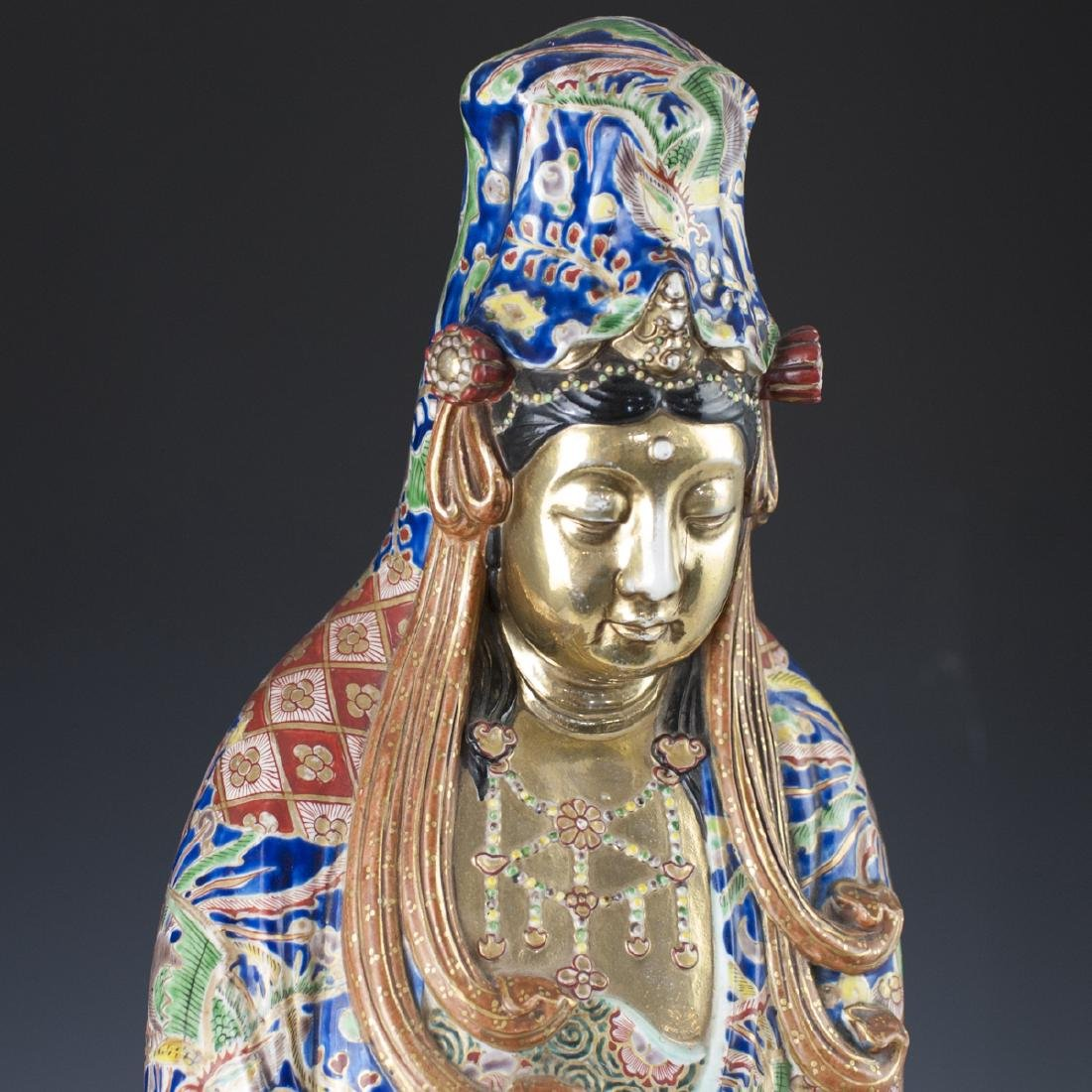 Antique Chinese Enameled Porcelain Guanyin - 2