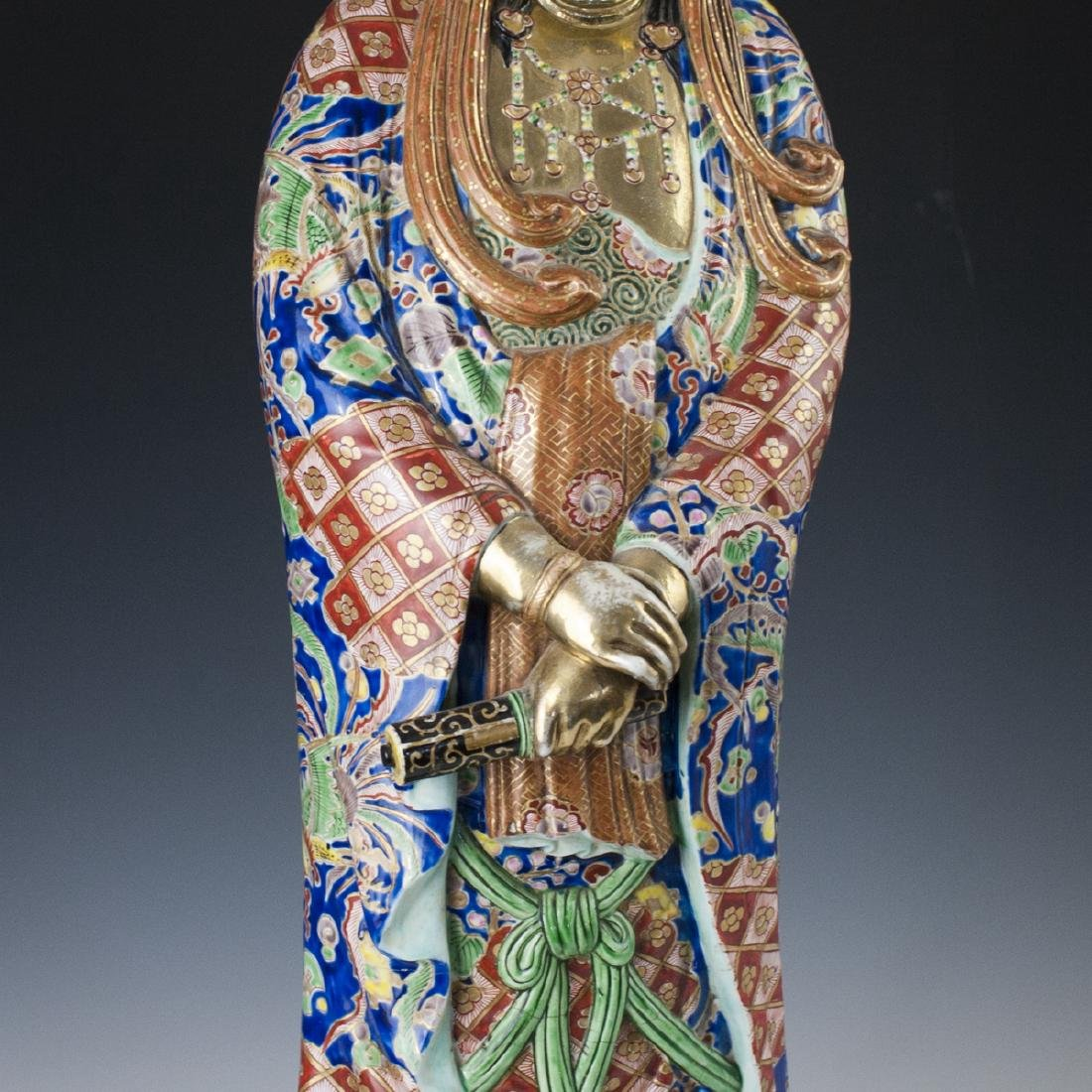 Antique Chinese Enameled Porcelain Guanyin - 5