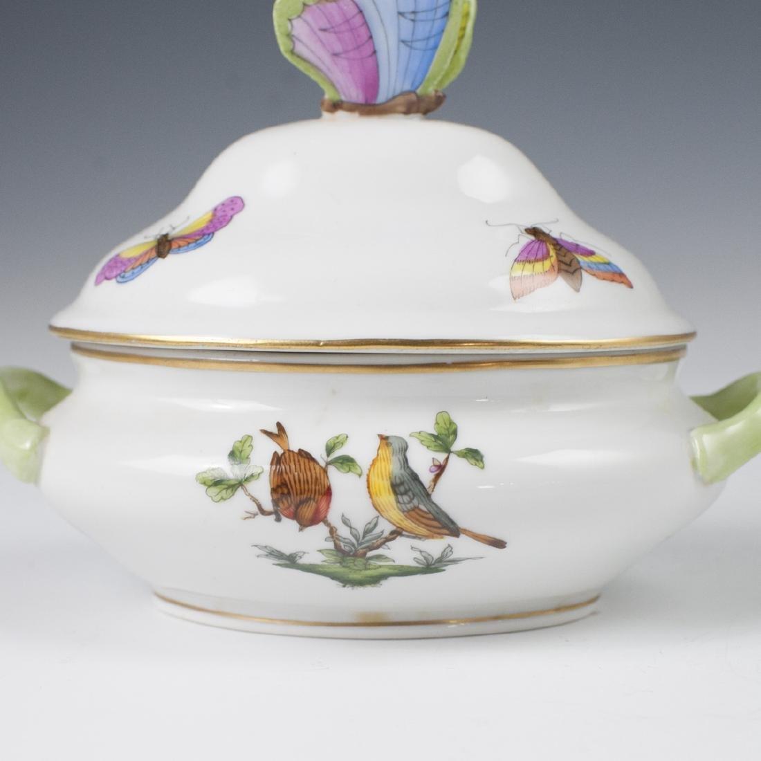 "Herend Porcelain ""Rothschild"" Mini Tureen - 5"