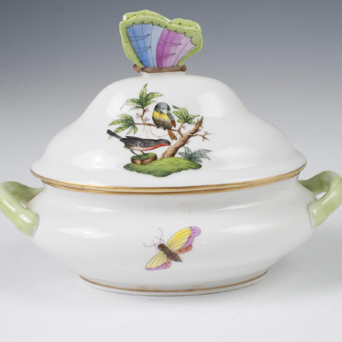 "Herend Porcelain ""Rothschild"" Mini Tureen - 6"