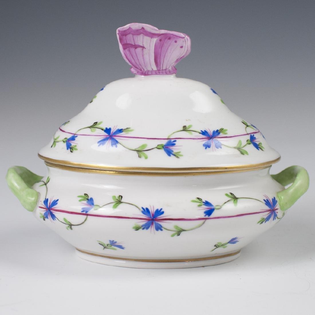 "Herend Porcelain ""Blue Garland"" Mini Tureen"