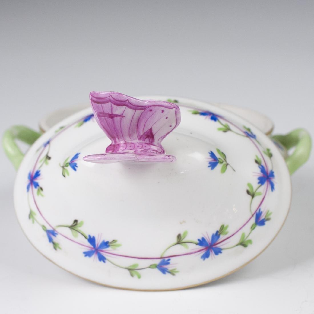 "Herend Porcelain ""Blue Garland"" Mini Tureen - 2"