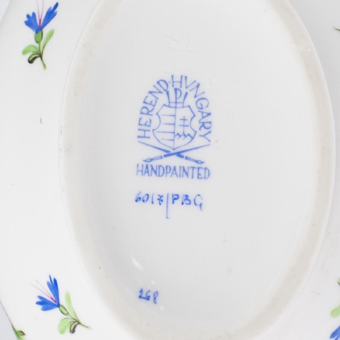 "Herend Porcelain ""Blue Garland"" Mini Tureen - 3"