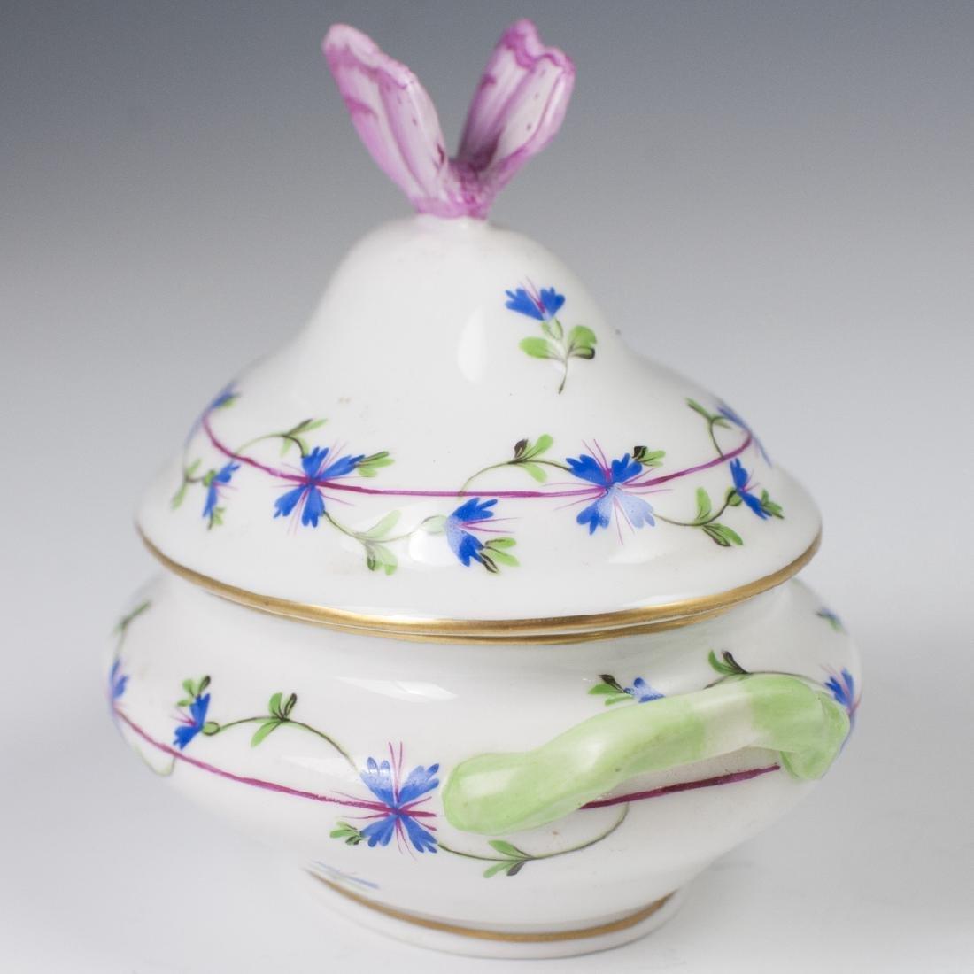 "Herend Porcelain ""Blue Garland"" Mini Tureen - 4"
