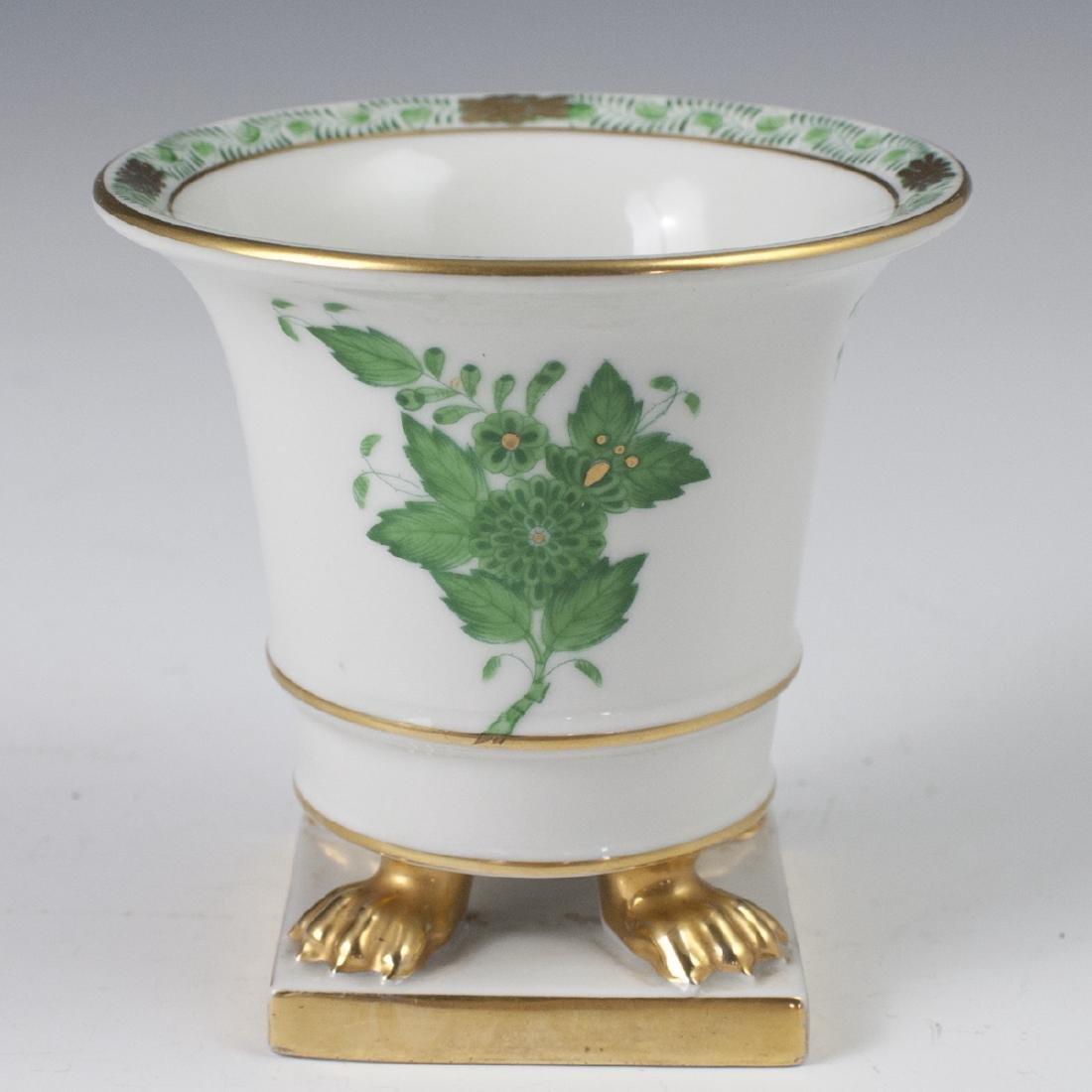 """Herend Porcelain """"Apponyi Vert"""" Footed Vase"""