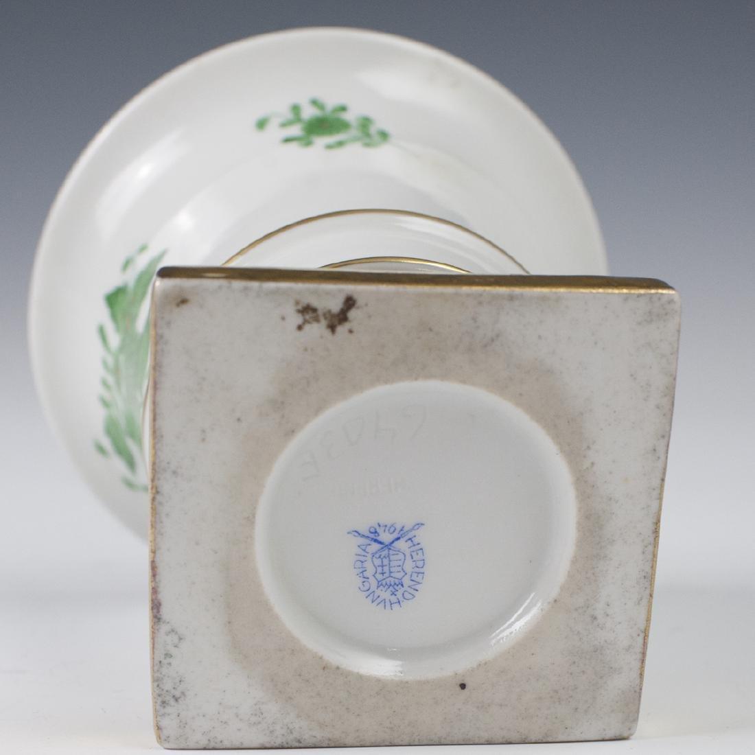 """Herend Porcelain """"Apponyi Vert"""" Footed Vase - 3"""