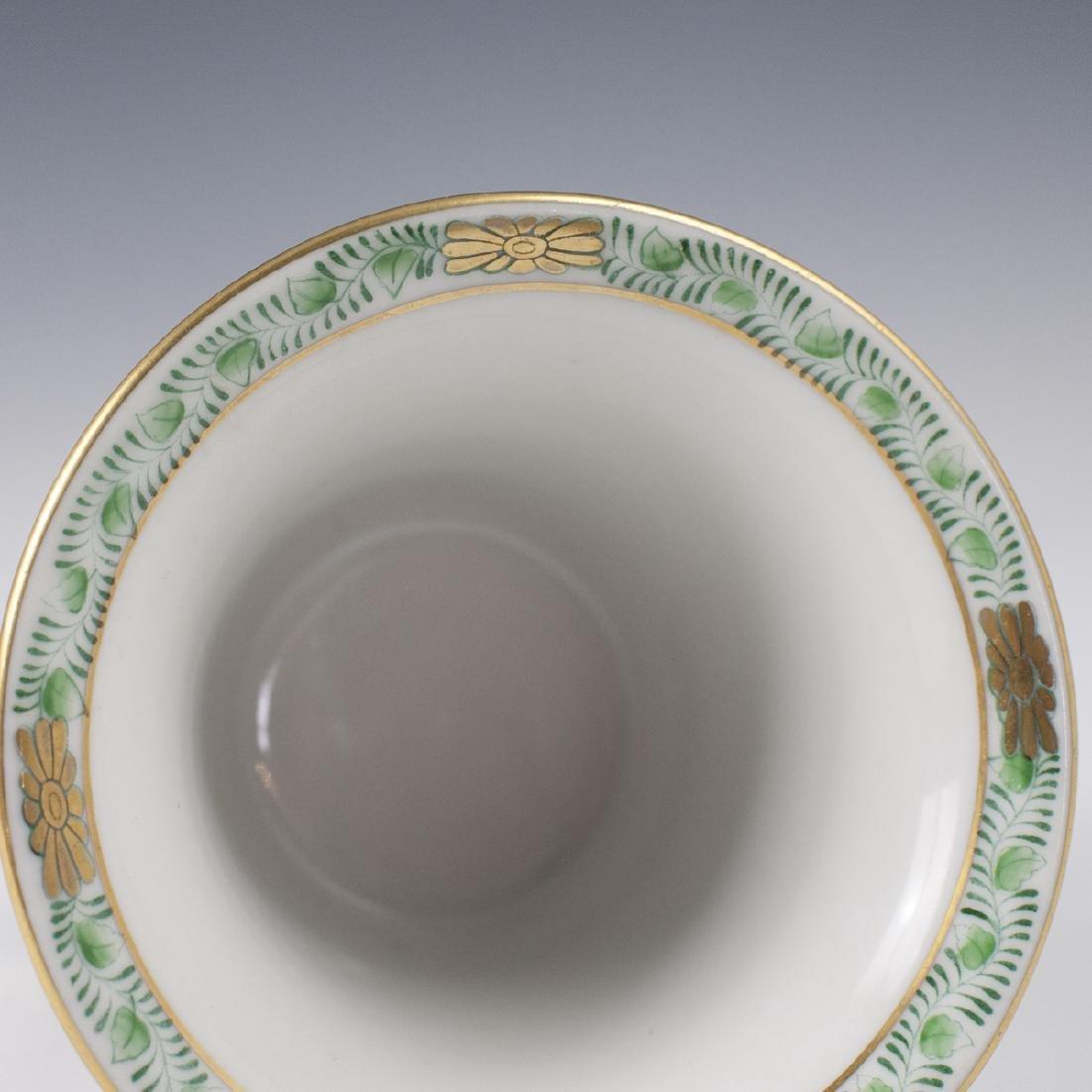 """Herend Porcelain """"Apponyi Vert"""" Footed Vase - 4"""