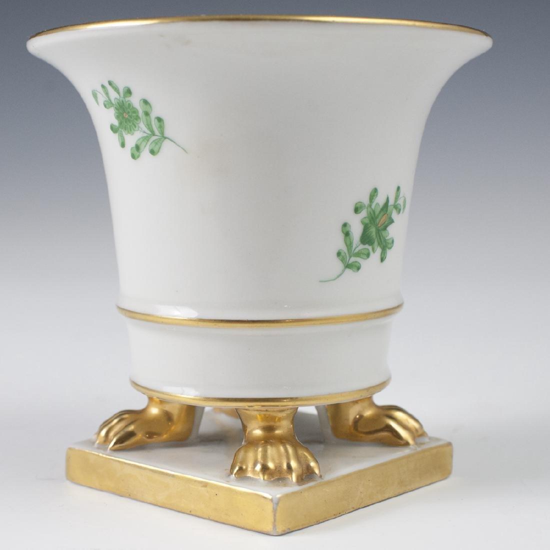 """Herend Porcelain """"Apponyi Vert"""" Footed Vase - 5"""
