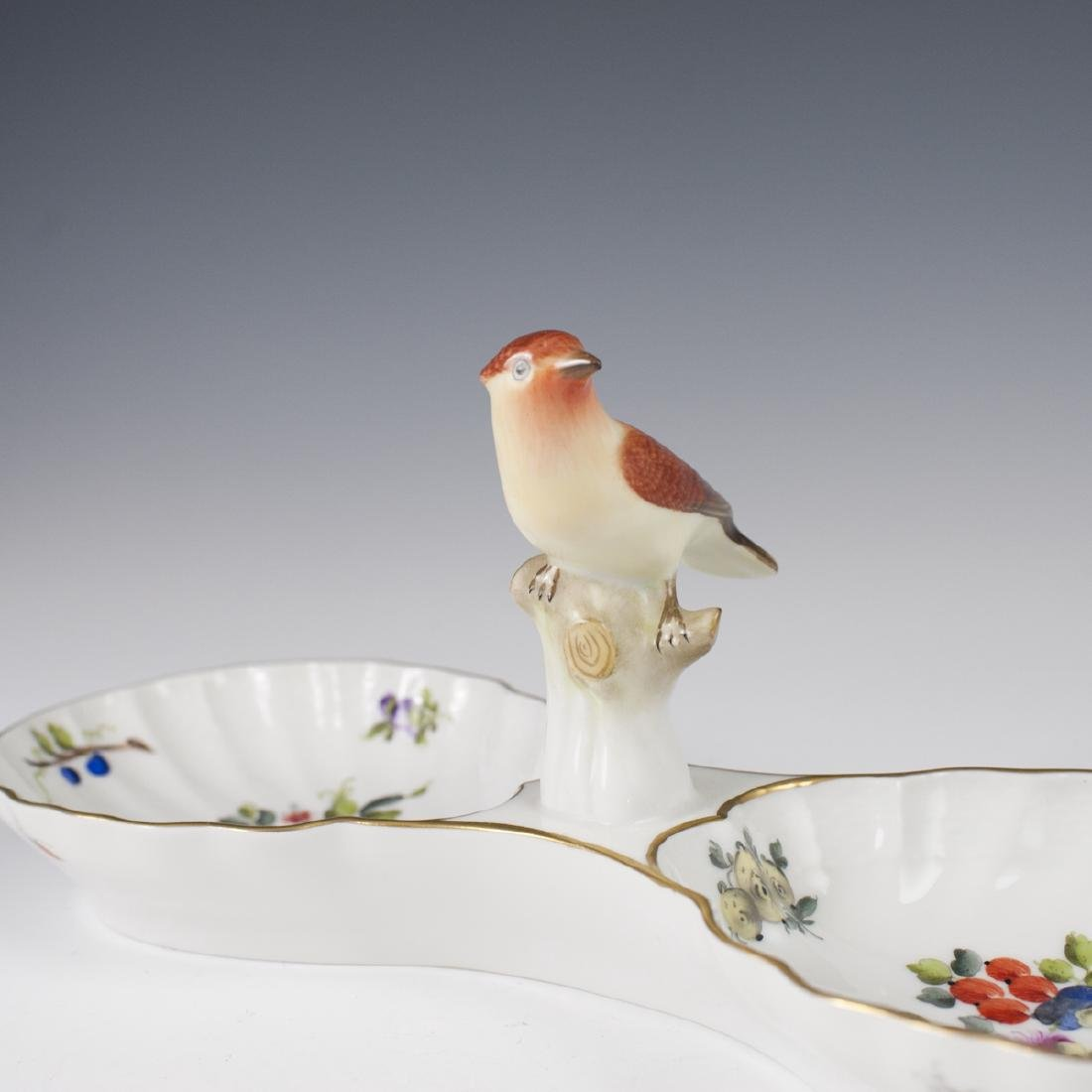 """Herend Porcelain """"Fruits & Flowers"""" Relish Dish - 2"""
