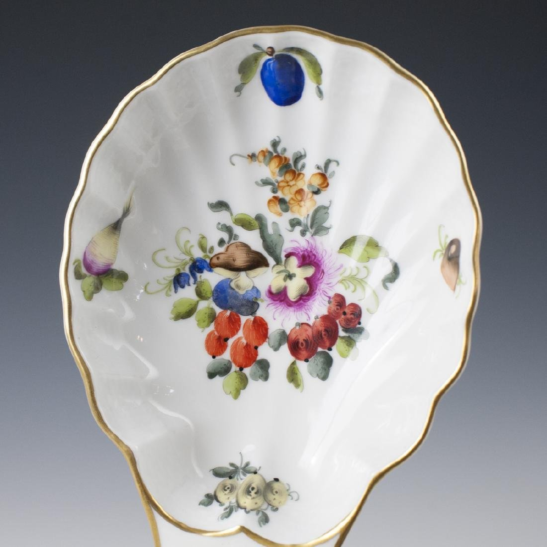"""Herend Porcelain """"Fruits & Flowers"""" Relish Dish - 5"""